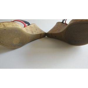 Tommy Hilfiger Shoes - Tommy Hilfiger logo cork wedge Sandals w 2 straps